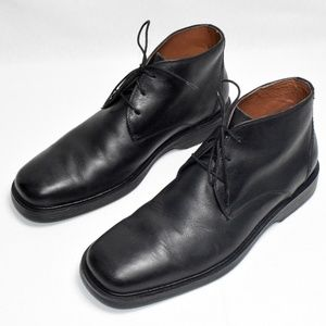 Johnston & Murphy Chukka Mens Black Leather Boots